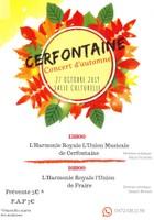 Concert d'automne de l'Harmonie Royale L'Union Musicale de Cerfontaine