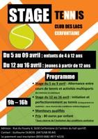 Stage de tennis pour jeunes de 12 ans et plus