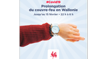 Prolongation du couvre-feu en Wallonie